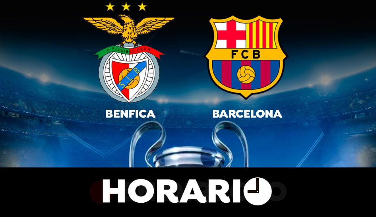 Benfica - Barcelona: Horario y dónde ver el partido de la Champions League en directo