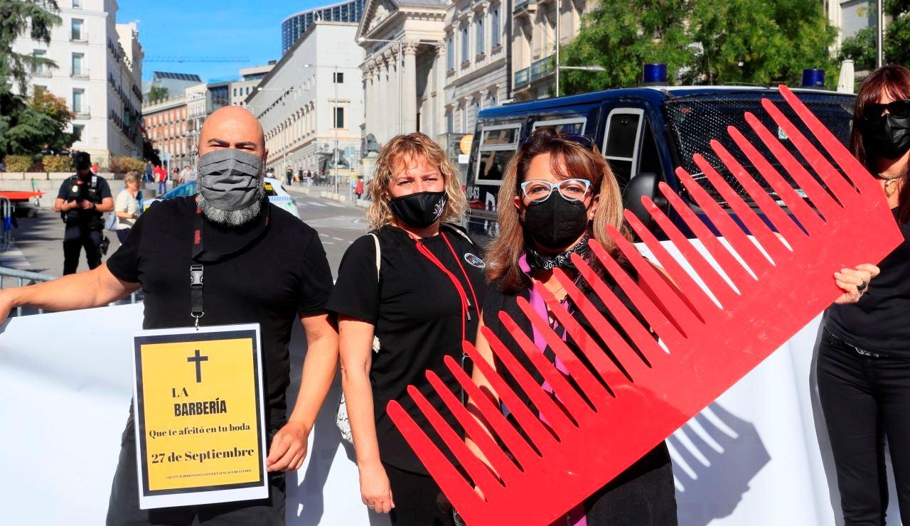 Protesta peluqueros
