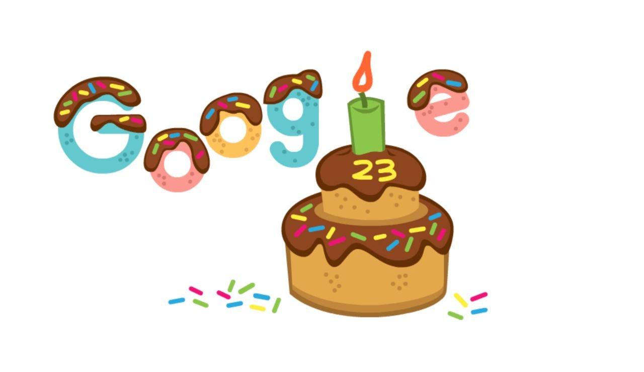 Google celebra hoy su 23 cumpleaños con un doodle de pastel helado de chocolate