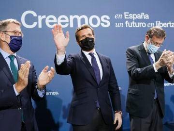 Pablo Casado y Mariano Rajoy reivindican al PP como la salvación de España ante las crisis que deja el PSOE