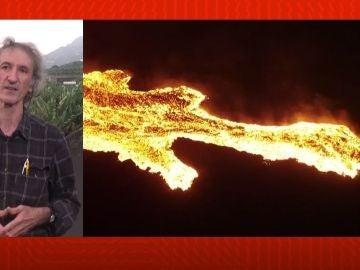 Vicente Soler analiza cómo avanza el volcán.