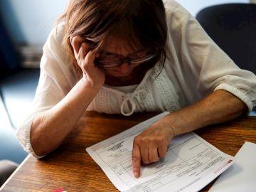 Foto de archivo de una pensionista