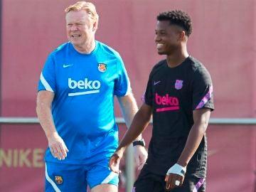 """Koeman pide calma con Ansu Fati: """"¿La Selección? Ha estado 10 meses fuera"""""""