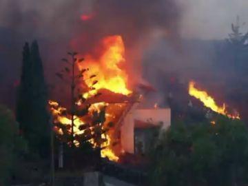 Destrucción de viviendas en La Palma