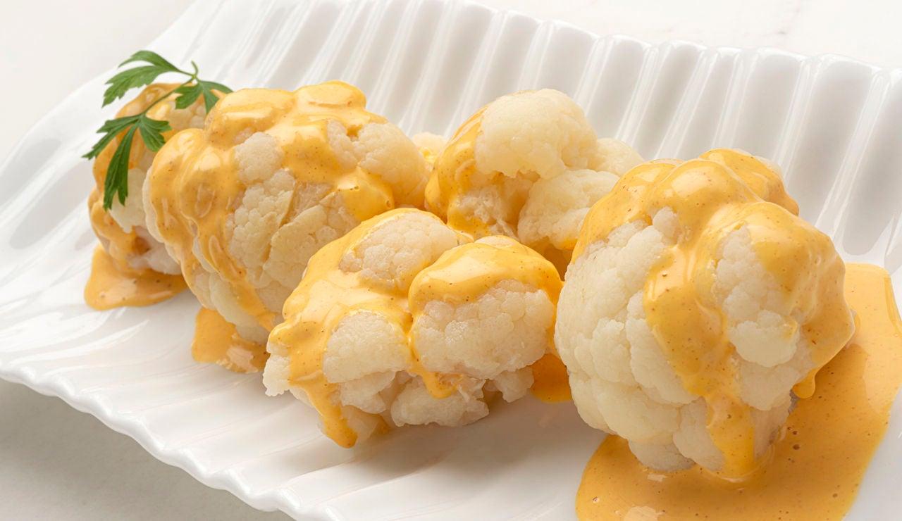 Receta sencilla, barata y rápida de Karlos Arguiñano: coliflor con mahonesa de ajo y pimentón