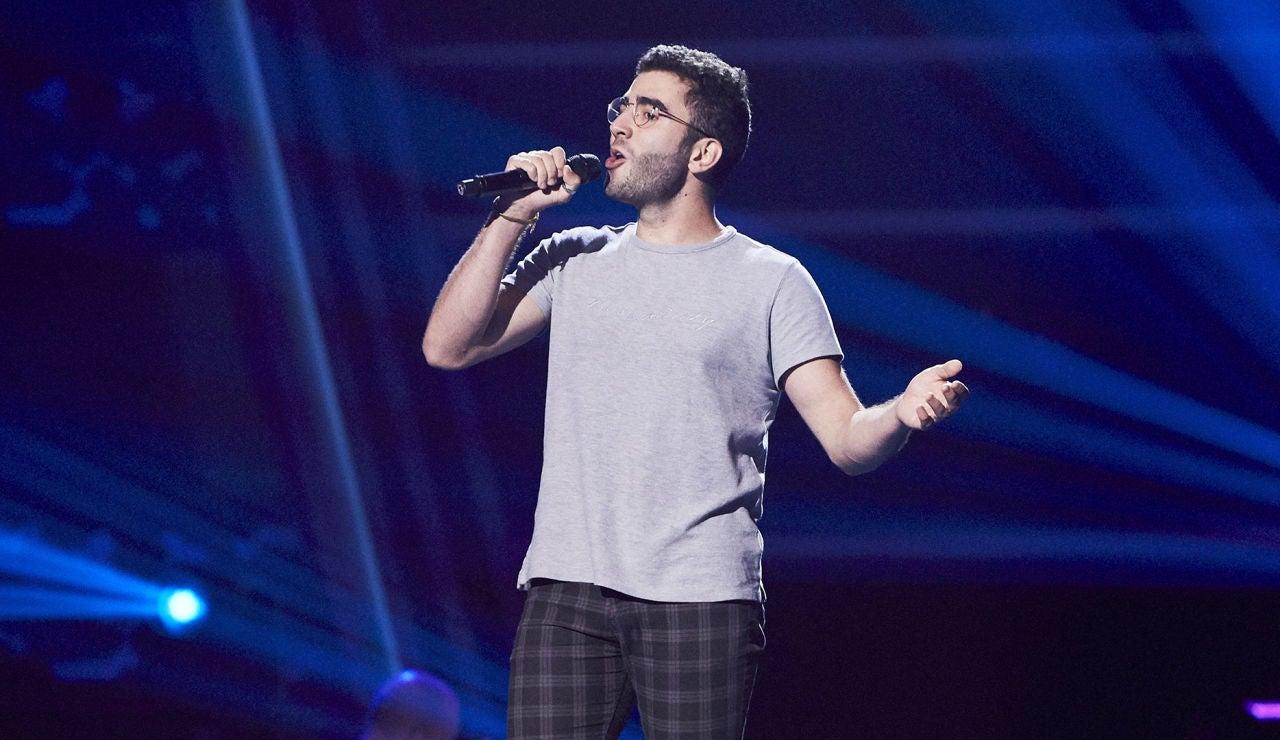 Daniel Gómez canta 'Fly me to the moon' en las Audiciones a ciegas de 'La Voz'