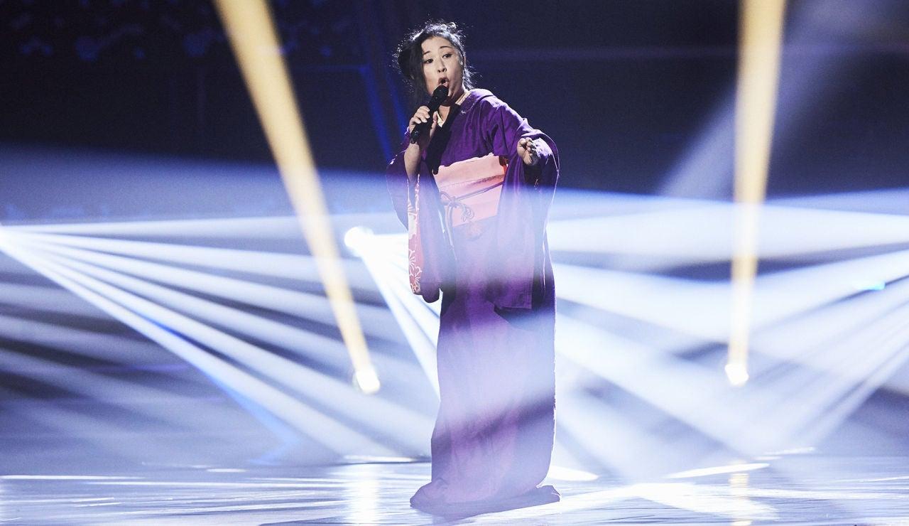 Makiko Kitago canta 'Un bel di vedremo' en las Audiciones a ciegas de 'La Voz'