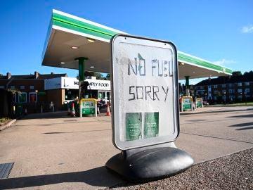 Gasolinera sin combustible en Londres