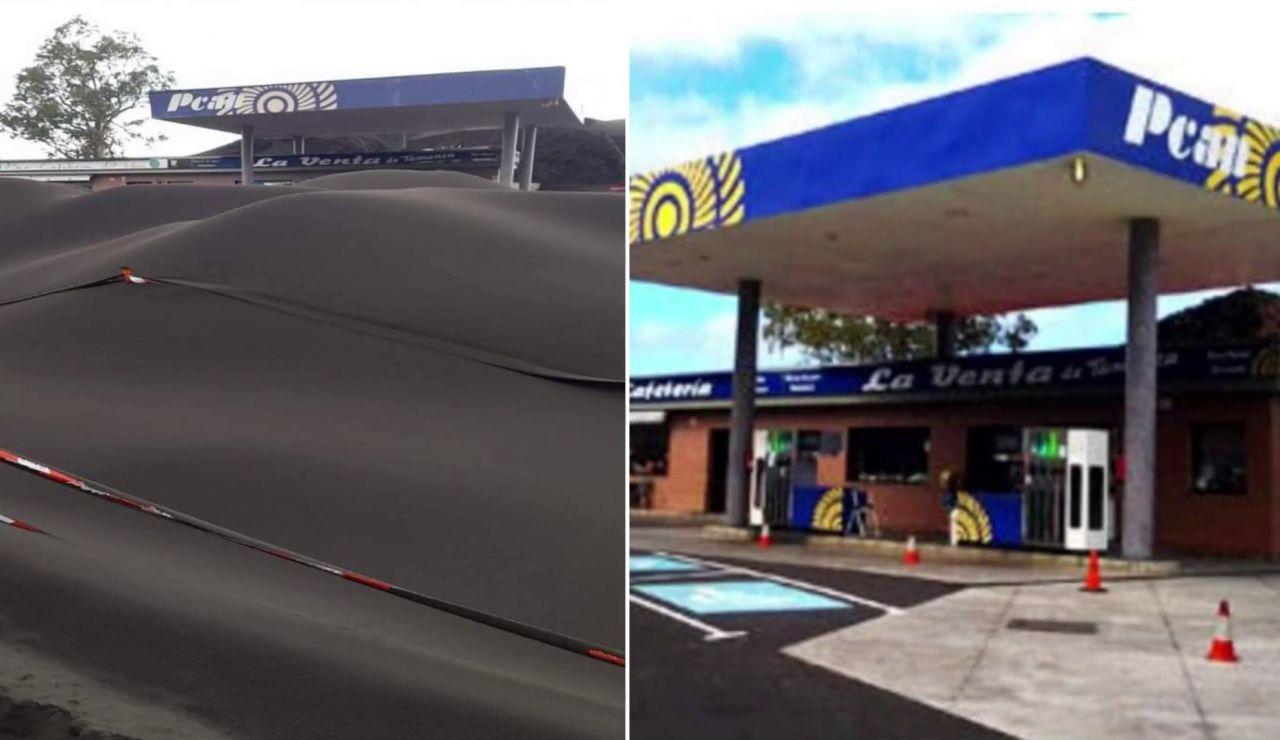 El antes y el después del volcán y de la isla de La Palma un mes después de la erupción