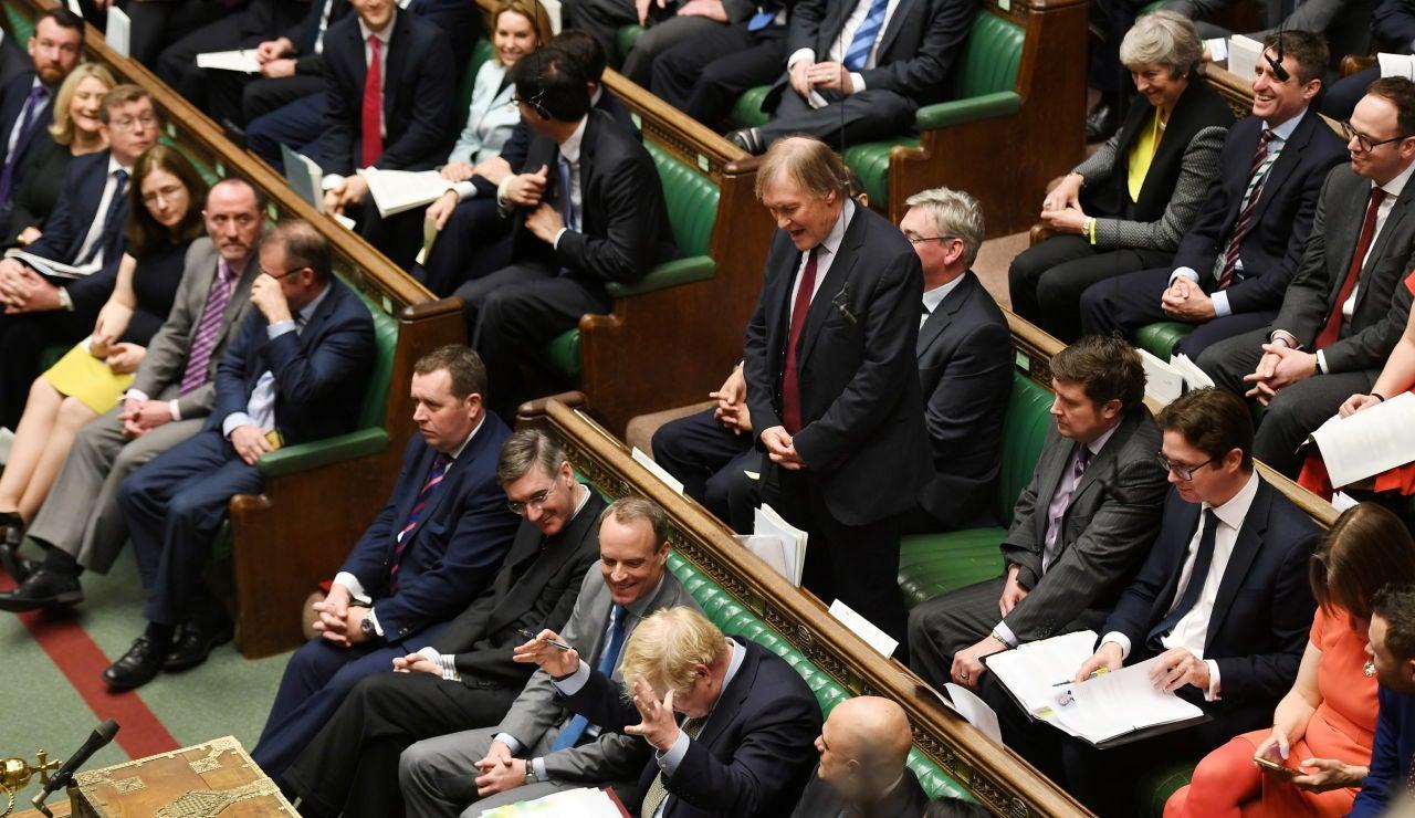 David Amess, en una imagen de archivo en el Parlamento británico