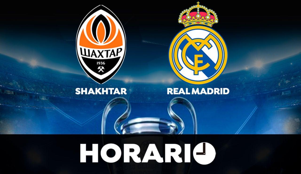 Shakhtar Donetsk - Real Madrid: Horario y dónde ver el partido de la Champions League en directo