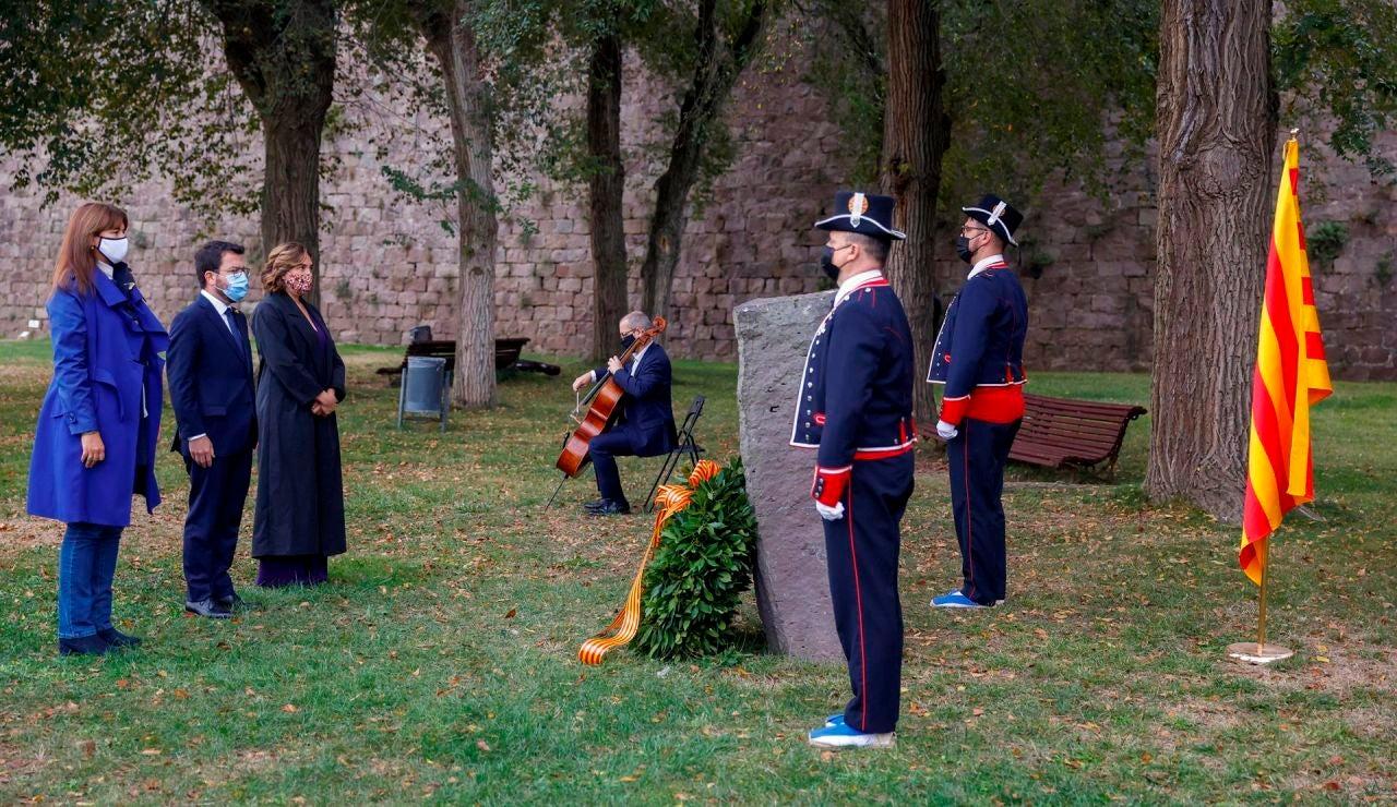 Pere Aragonès asiste al homenaje a Lluís Companys, fusilado hace 81 años