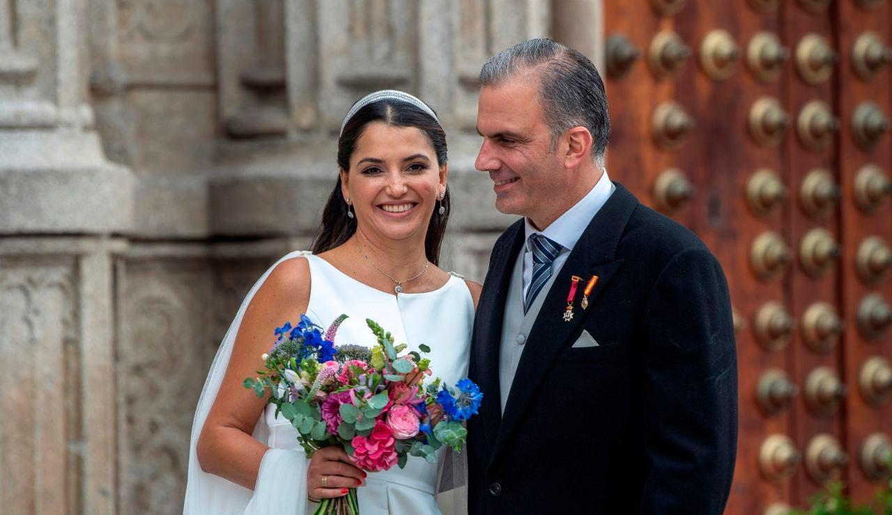 Javier Ortega Smith se casa con la mexicana Paulina Sánchez del Río en Toledo