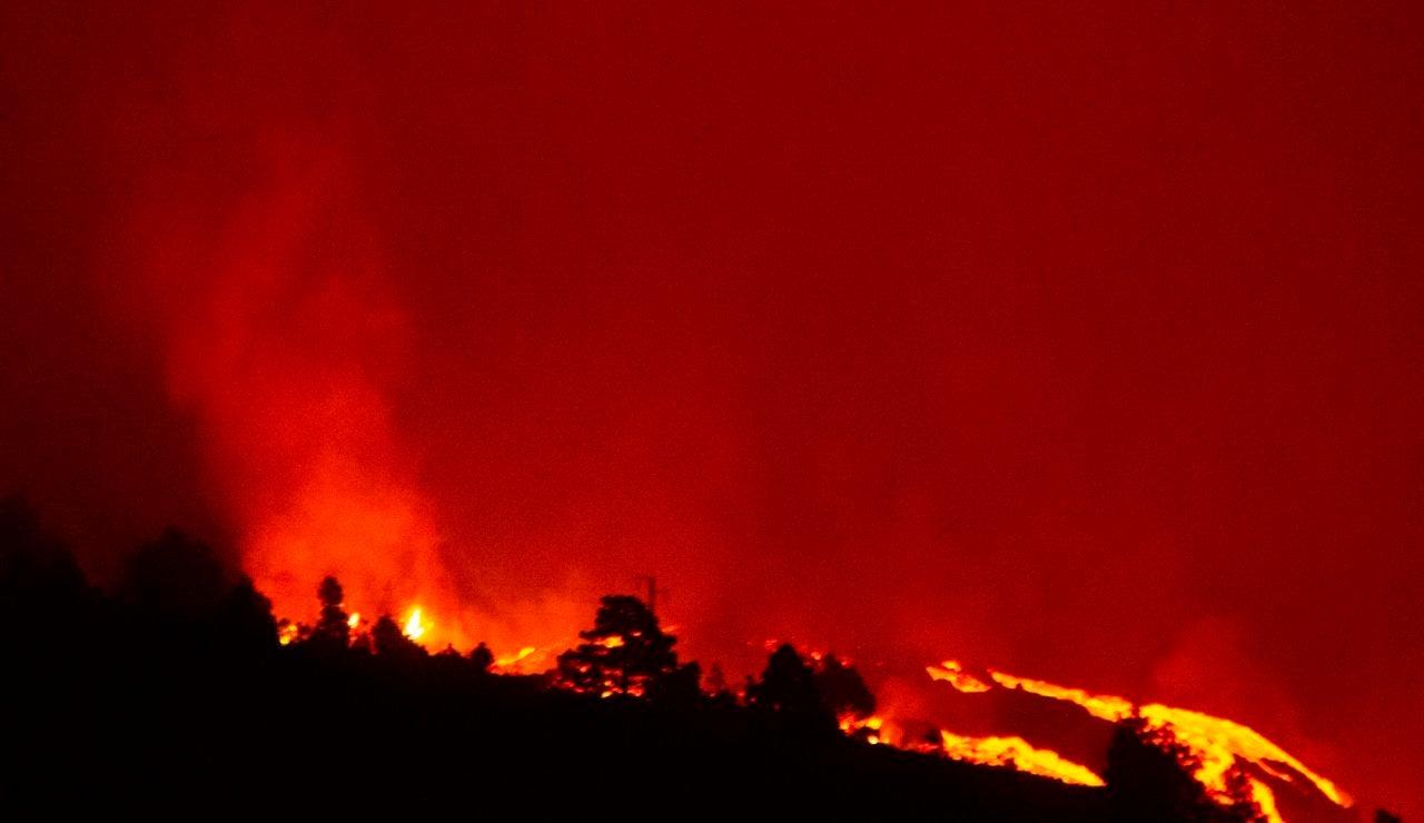 La velocidad de la lava del volcán de La Palma