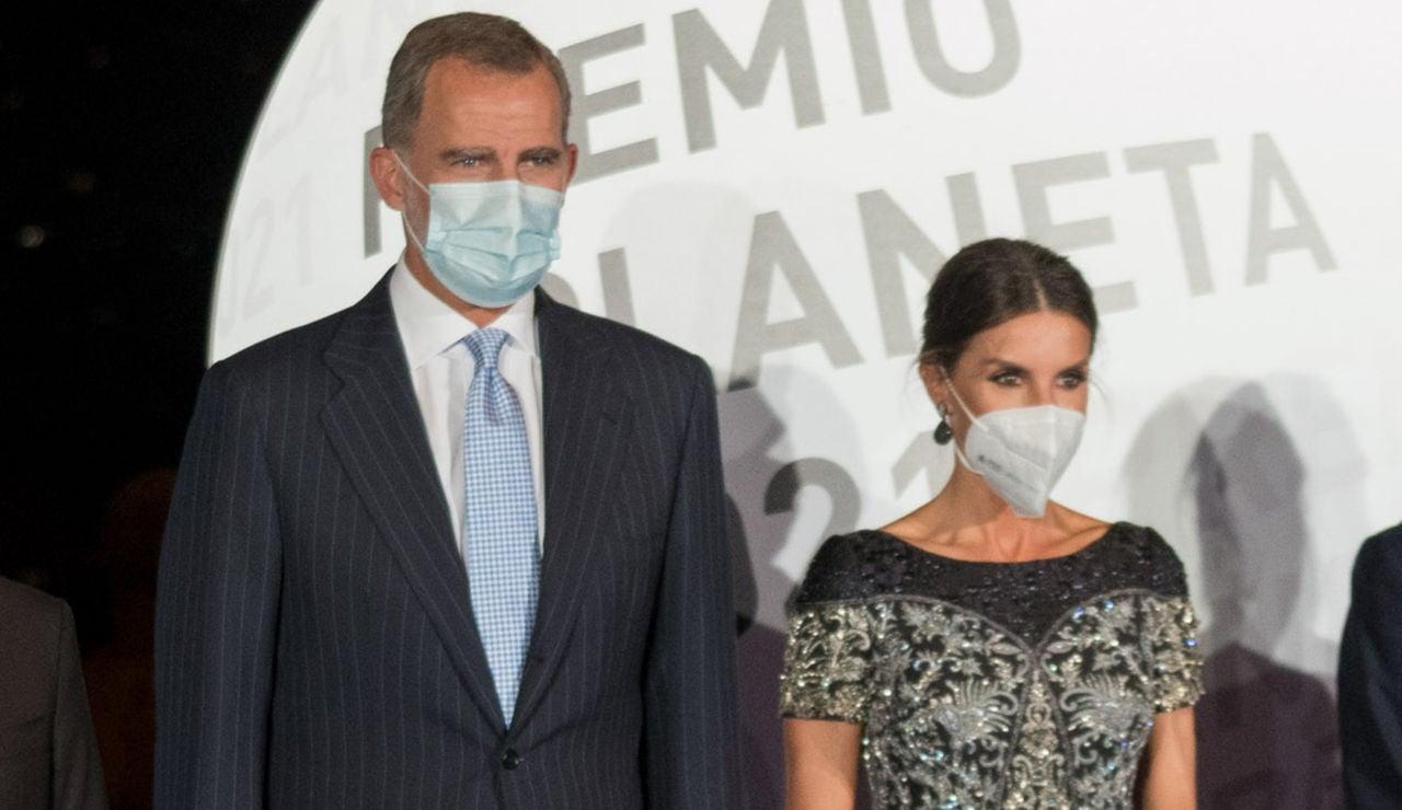 la reina Letizia y el rey Felipe en los Premios Planeta 2021