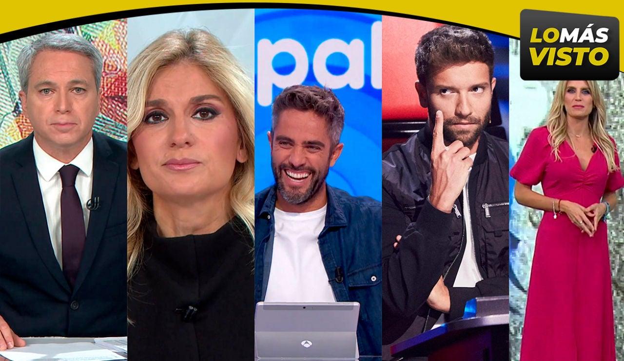 Antena 3 logra lo más visto del viernes con Antena 3 Noticias, 'Pasapalabra', 'La Voz' y Antena 3 Deportes