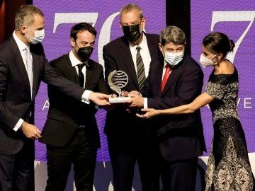 Jorge Díaz, Agustín Martínez y Antonio Mercero reciben el Premio Planeta 2021