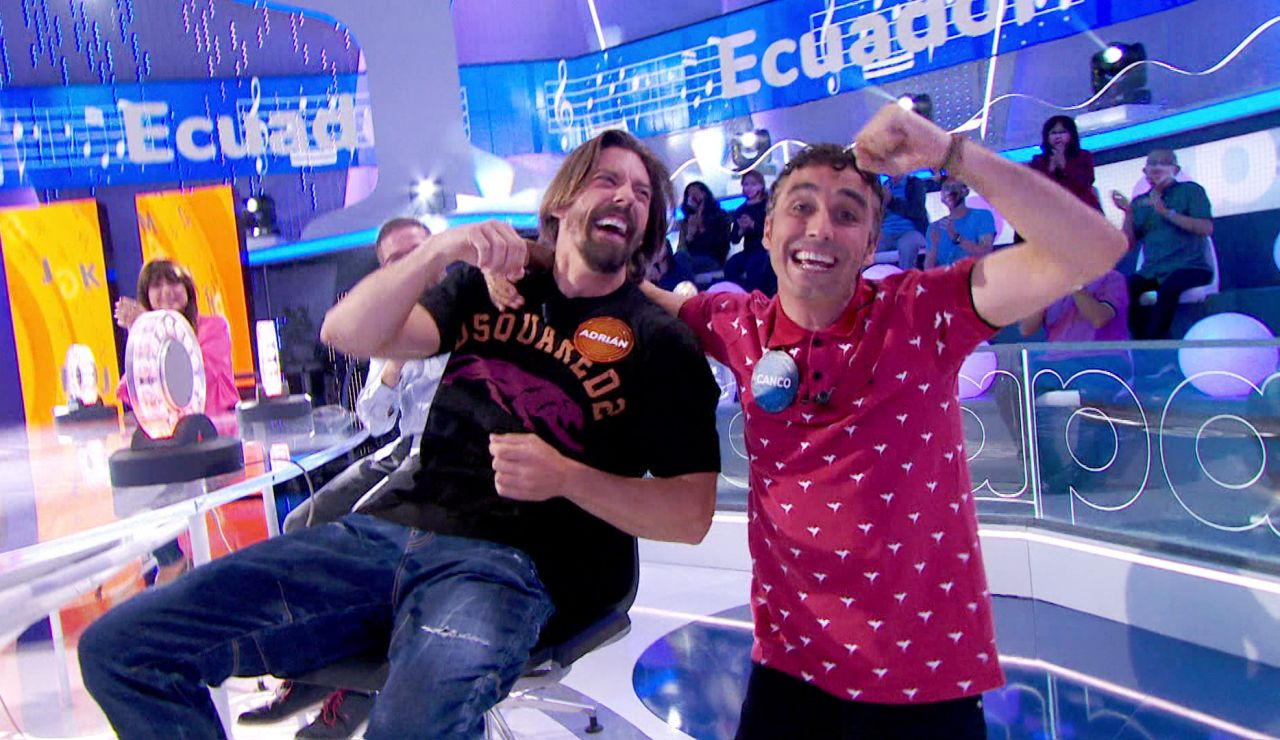 Canco Rodríguez se burla de Adrián Lastra y monta la fiesta en 'Pasapalabra'