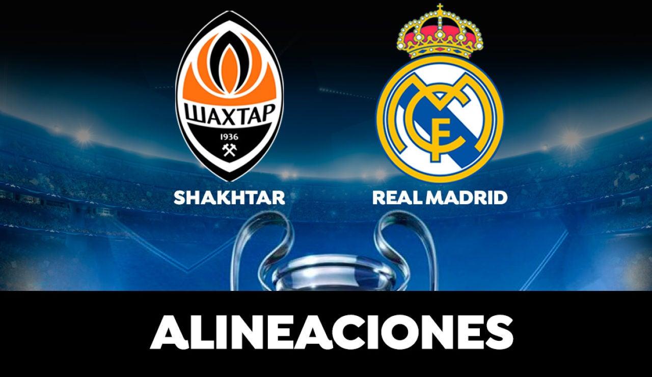 Alineación del Real Madrid hoy ante el Shakhtar Donetsk en el partido de la Champions League