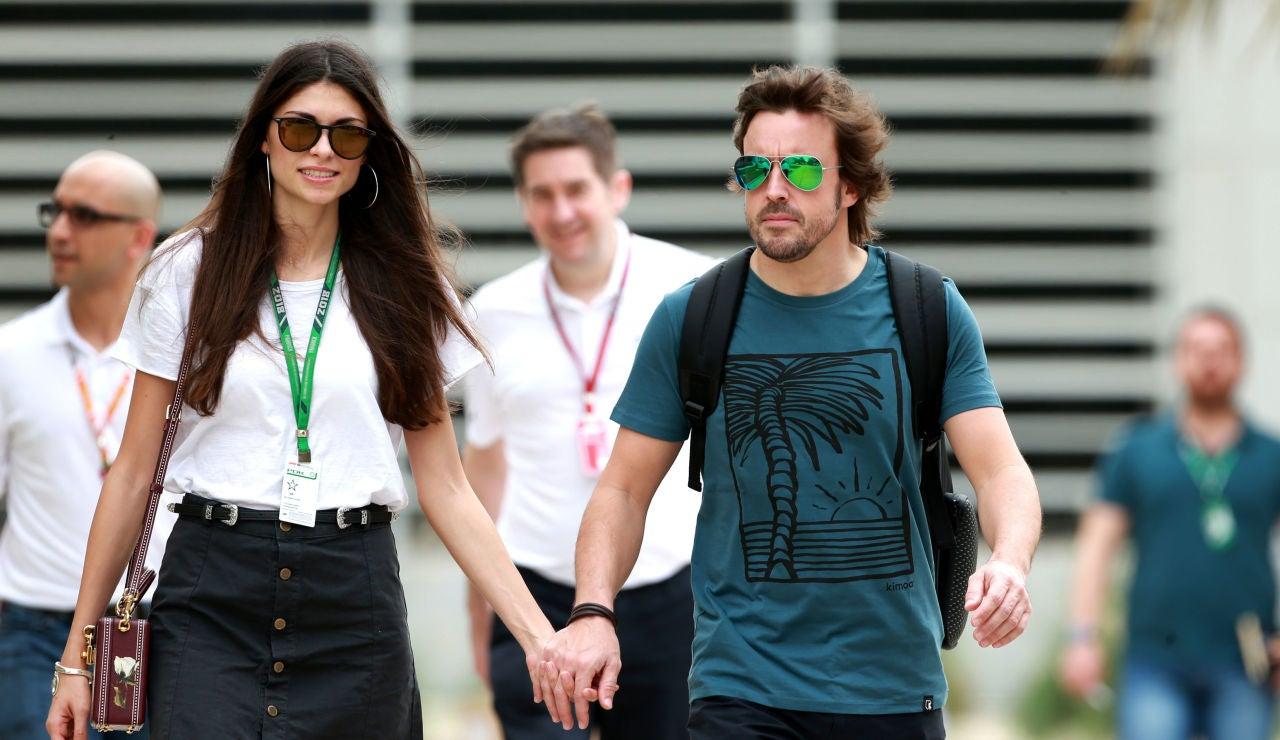 Linda Morselli y Fernando Alonso