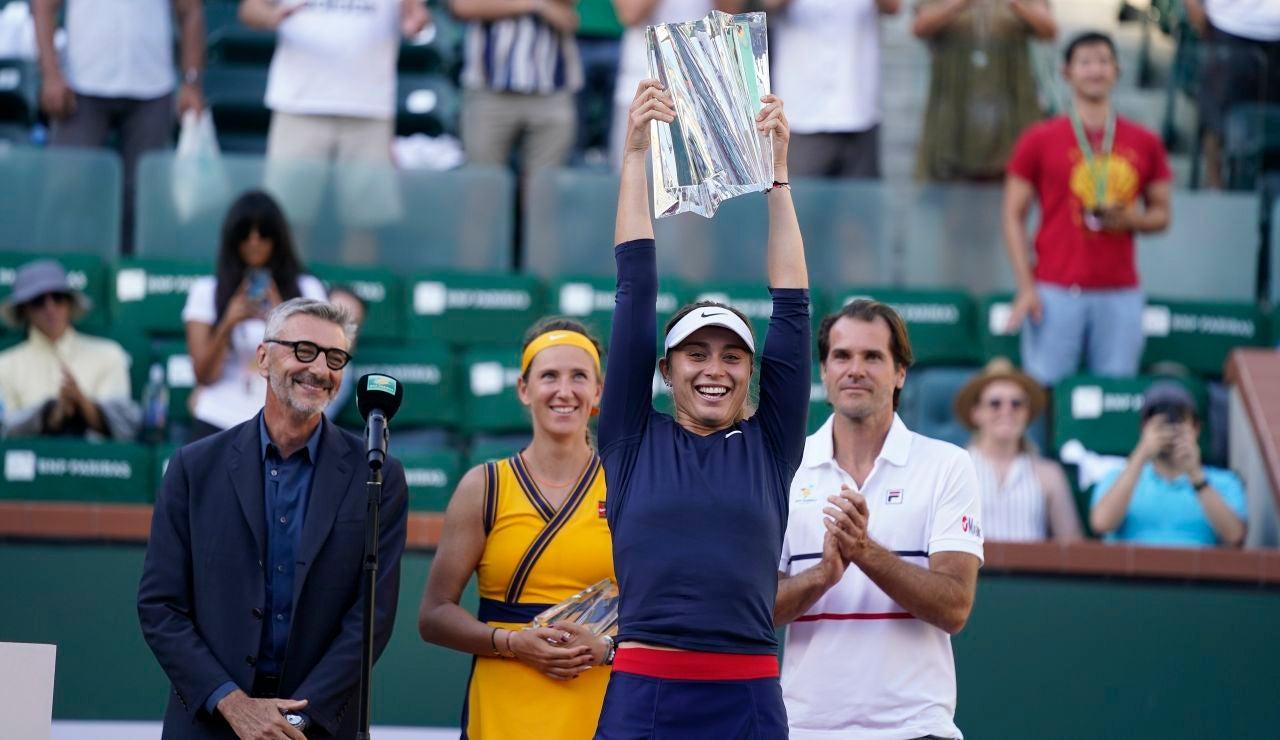 Paula Badosa hace historia al se la primera española en ganar el Indian Wells