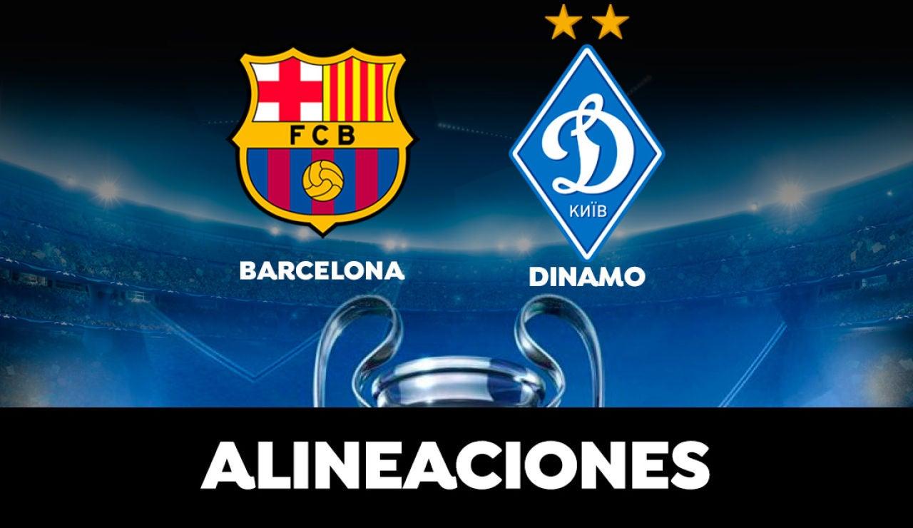 Alineación del Barcelona hoy ante el Dinamo de Kiev en el partido de la Champions League