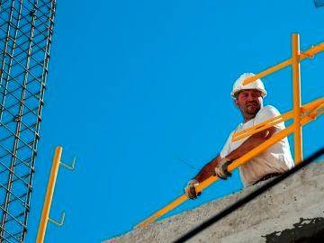 Un trabajador de la construcción, en una imagen de archivo