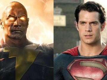 Dwayne Johnson cómo Black Adam y Henry Cavill como Superman