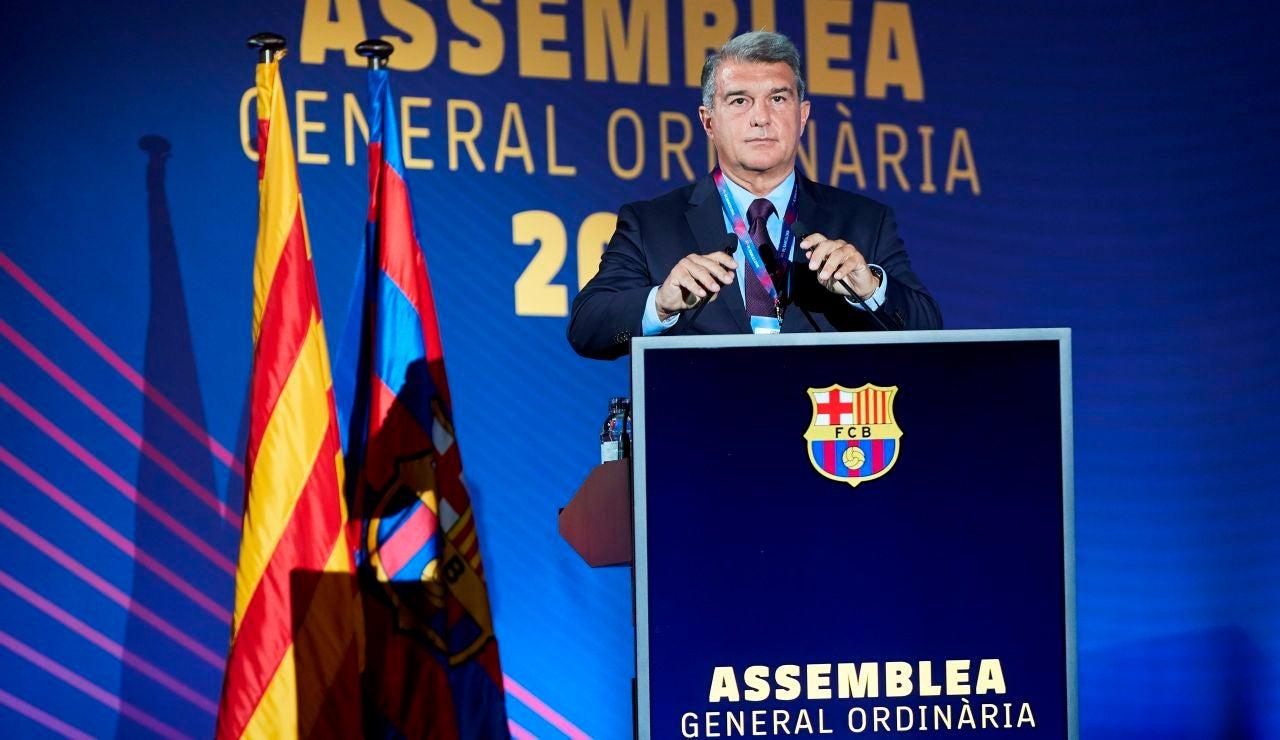 Laporta anuncia un referéndum sobre el Espai Barça si la Asamblea aprueba el proyecto