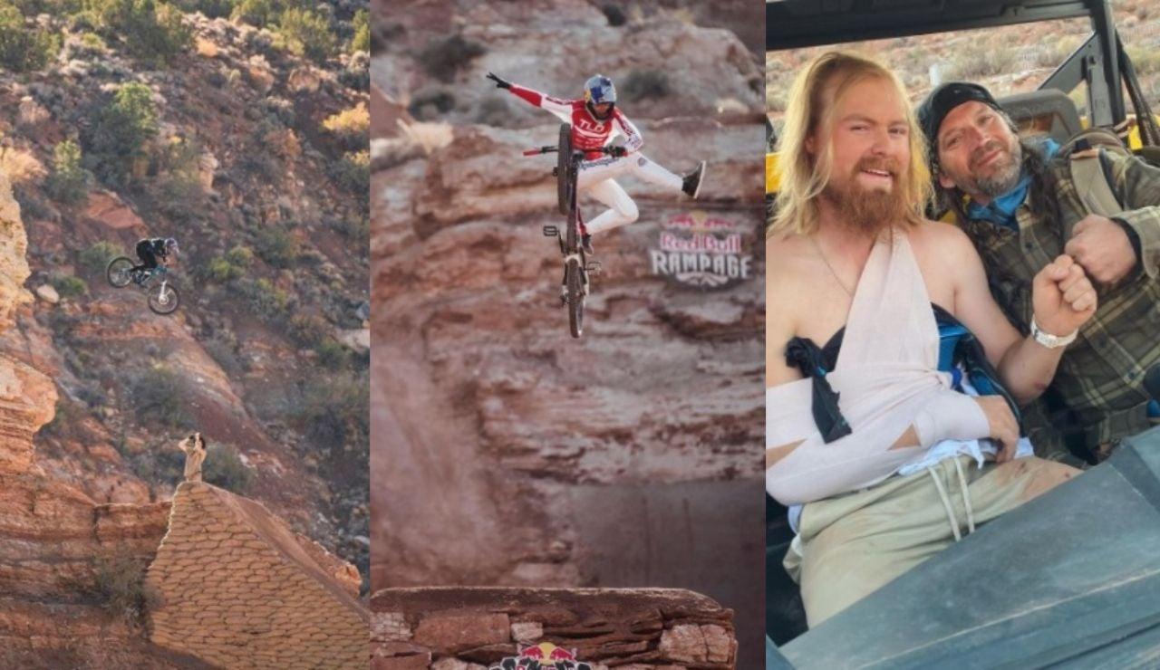Los vertiginosos y arriesgados descensos de los  mejores riders de MTB en el Red Bull Rampage