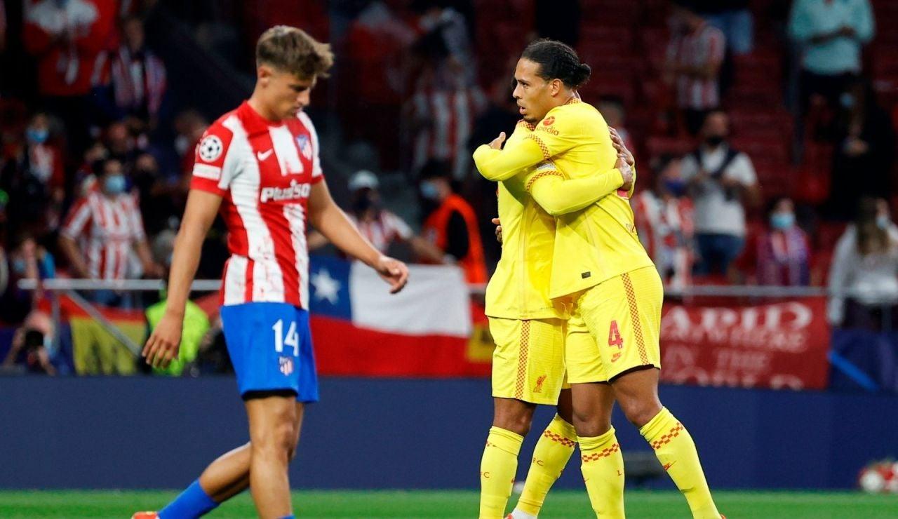 Derrota del Atlético frente al Liverpool