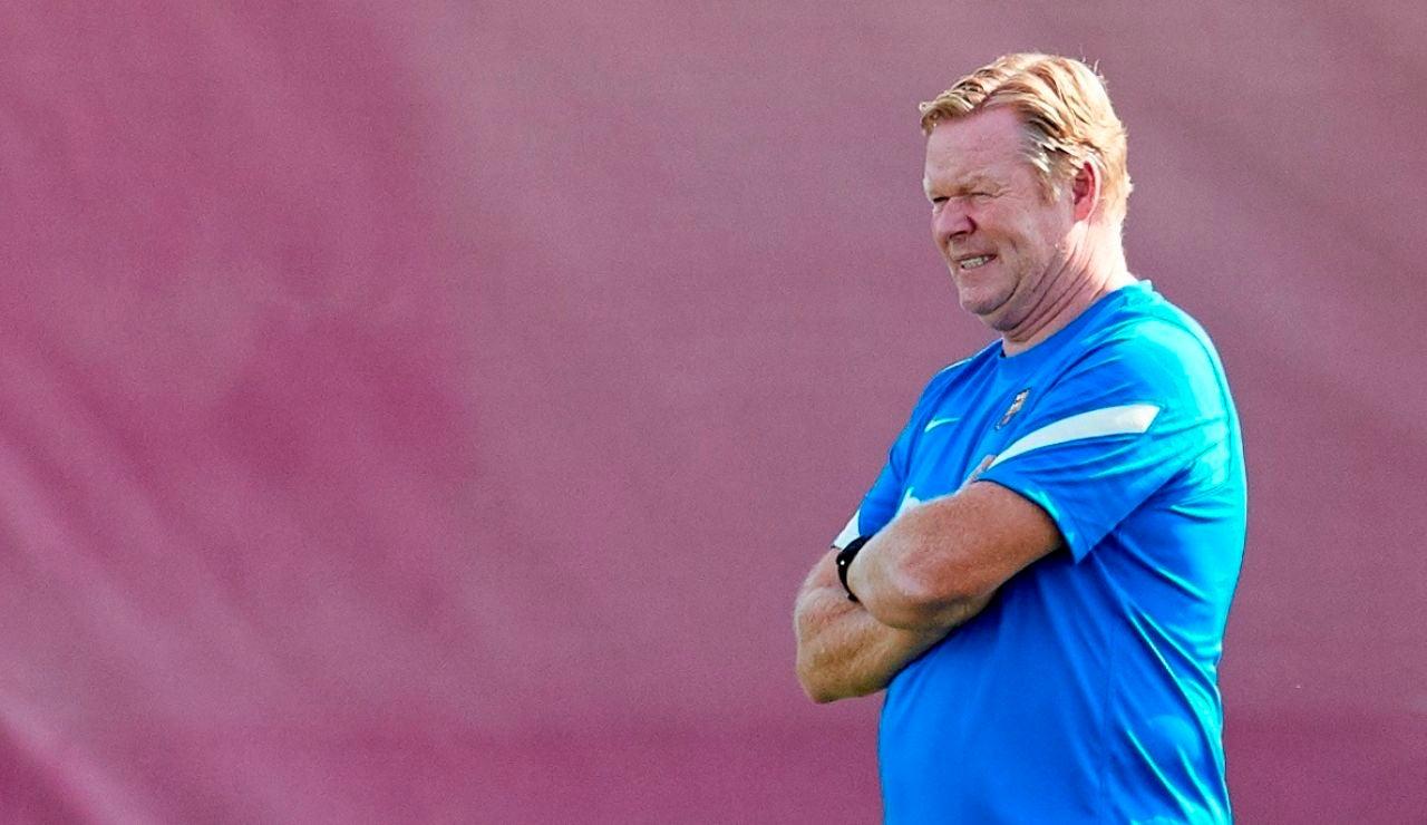 El entrenador del FC Barcelona, Ronald Koeman