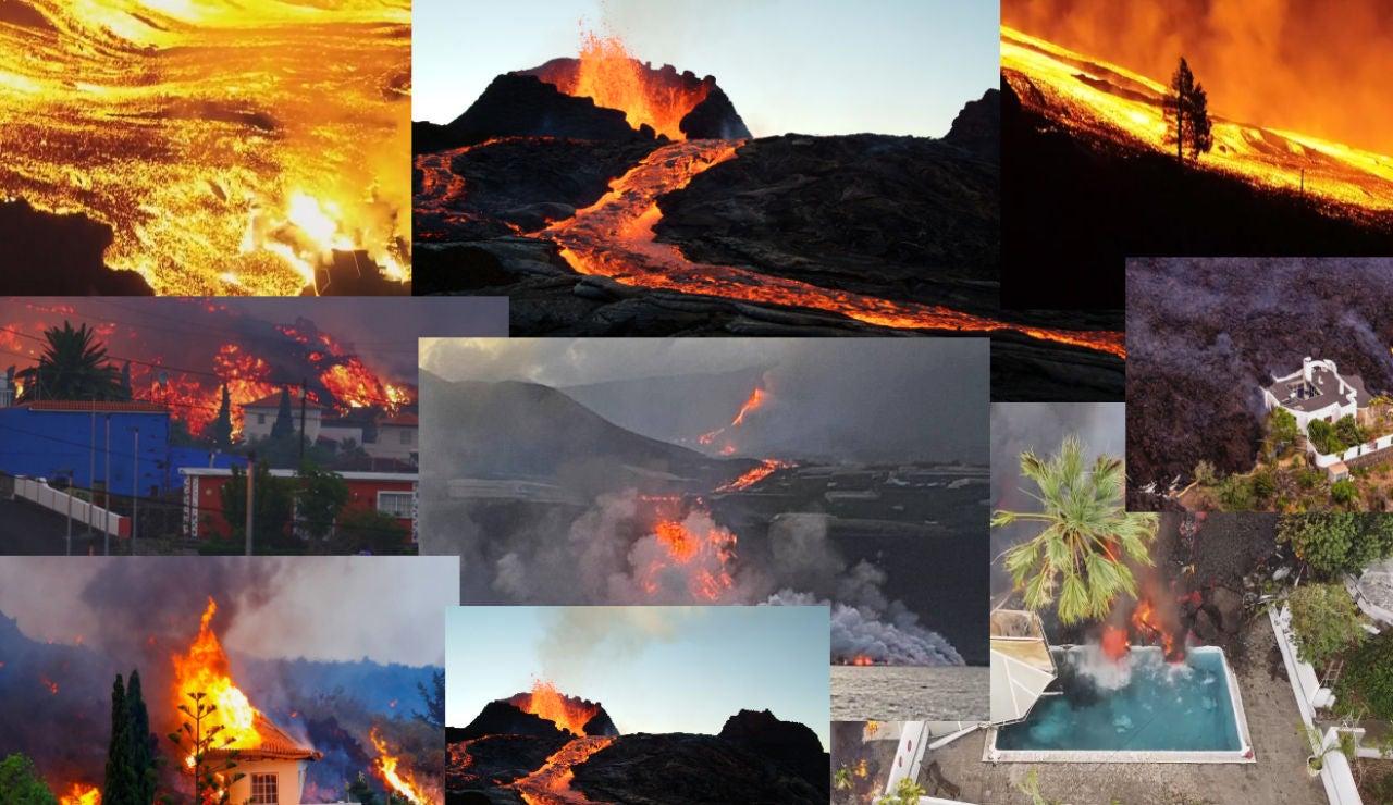 1 mes de la erupción