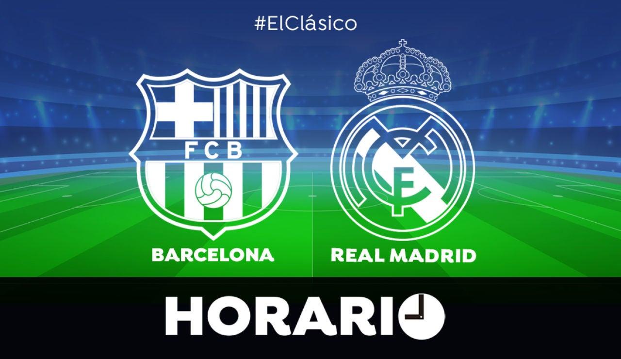 Horario y dónde ver el Clásico entre Barcelona y Real Madrid de la Liga en directo
