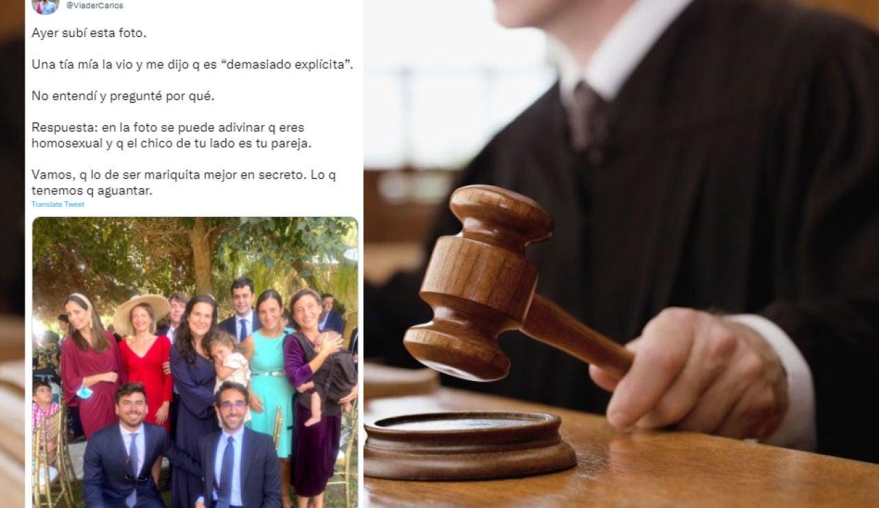 Un juez dicta sentencia sobre un comentario homófobo y triunfa en Twitter