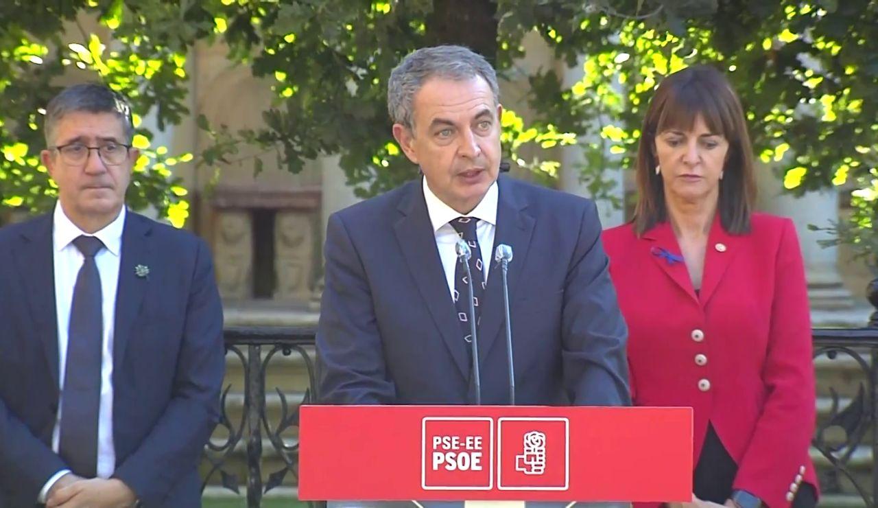 """José Luis Rodríguez Zapatero, 10 años después del fin de ETA: """"Somos una democracia sin terrorismo, pero no sin memoria"""""""
