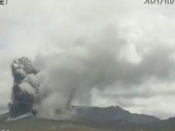 Las impresionantes imágenes del volcán Aso