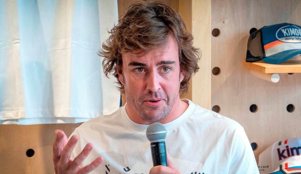 Fernando Alonso, en un acto en Miami