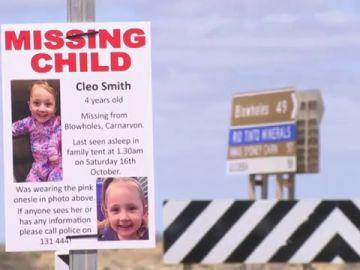 Un millón de dólares por pistas sobre una niña de 4 años desaparecida en  Australia