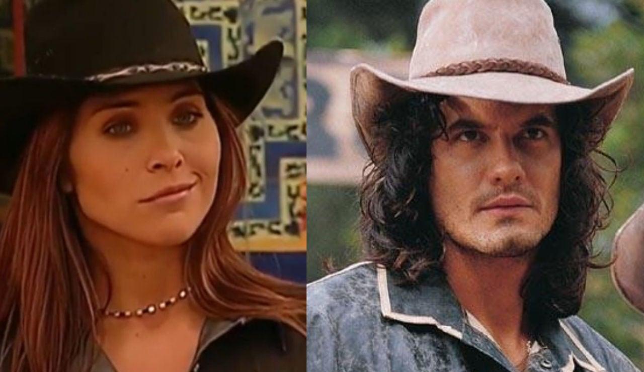 Lorena Meritano y Mario Cimarro como Dinora Rosales y Juan Reyes en 'Pasión de Gavilanes'