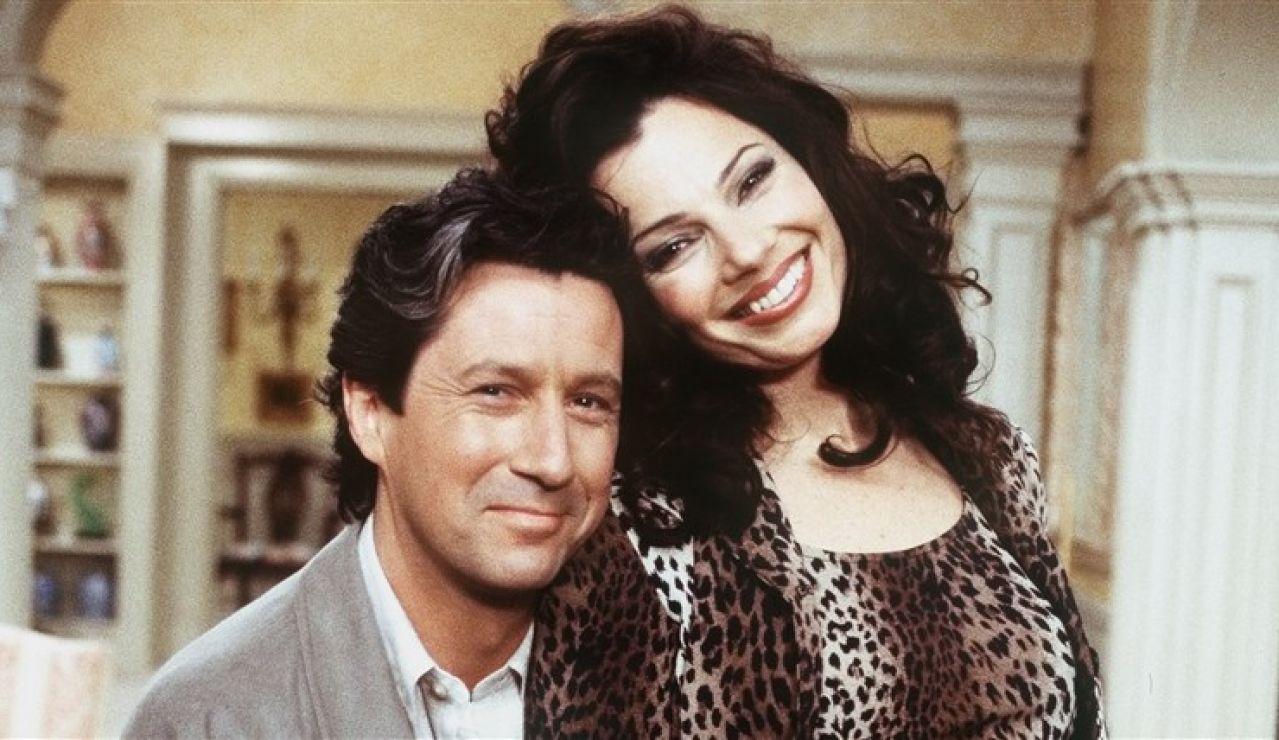 Charles Shaughnessy y Fran Drescher en 'The Nanny' ('La Niñera')