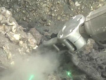 Primeras imágenes submarinas de la fajana de La Palma grabadas por el 'Ángeles Alvariño'
