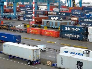 Camiones con materias primas
