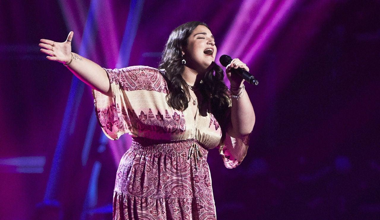 Paola Casas canta 'Aunque no sea conmigo' en las Audiciones a ciegas de 'La Voz'