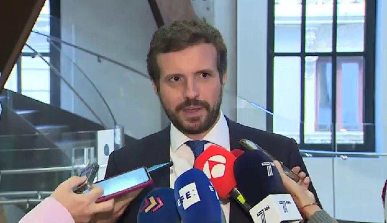 """Casado celebra el acuerdo sobre los órganos constitucionales pero recuerda al Gobierno que """"tiene que aceptar"""" renovar el CGPJ"""