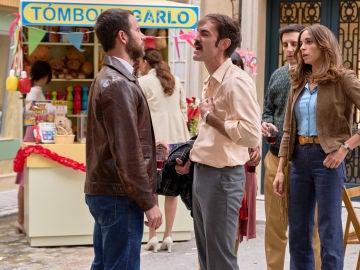 Fran y Raúl, enfrentados en la Verbena celebrada en la plaza de los Frutos