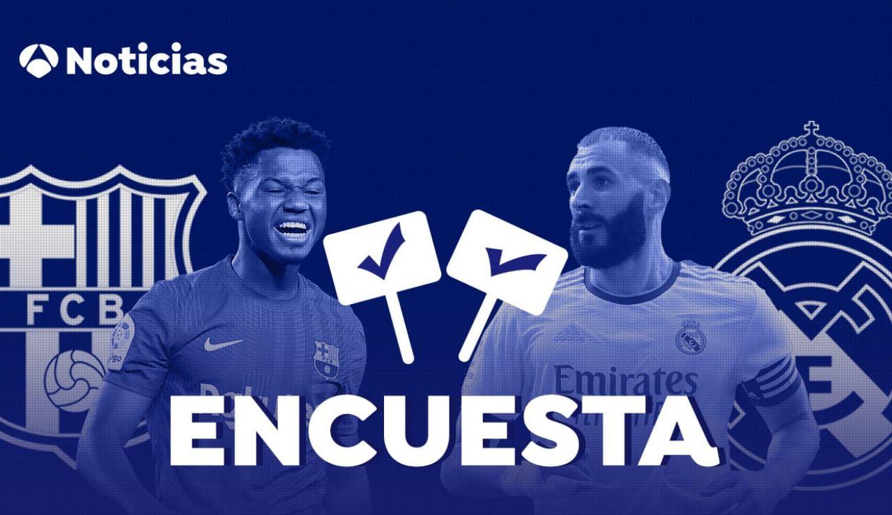 ENCUESTA: ¿Quién ganará el Clásico entre Barcelona y Real Madrid?