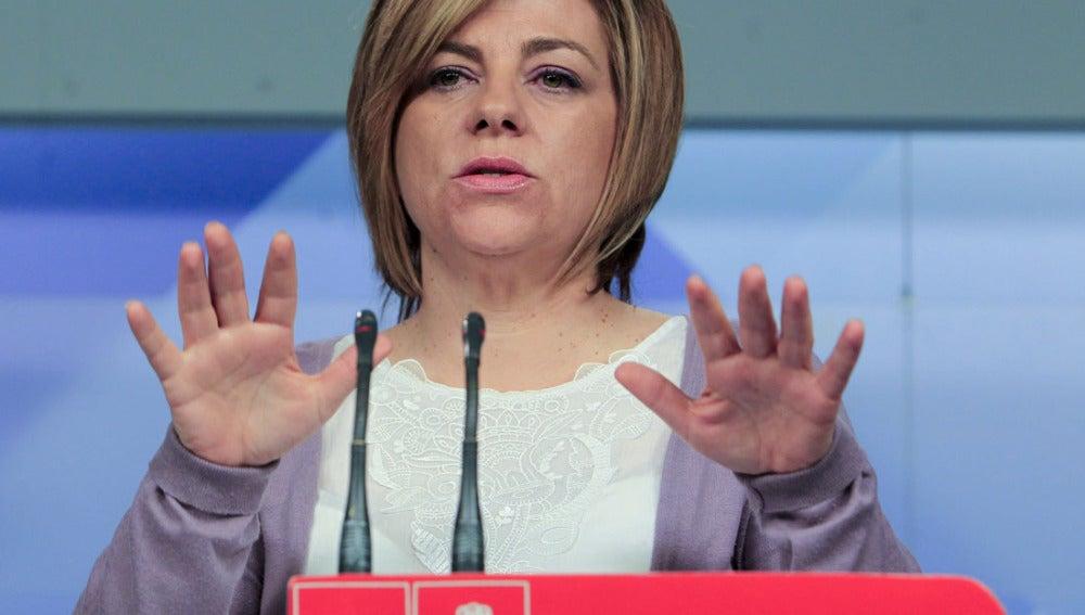Elena Valenciano durante una rueda de prensa