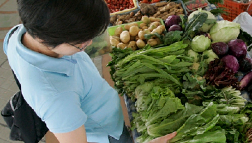 Puesto de verduras y hortalizas