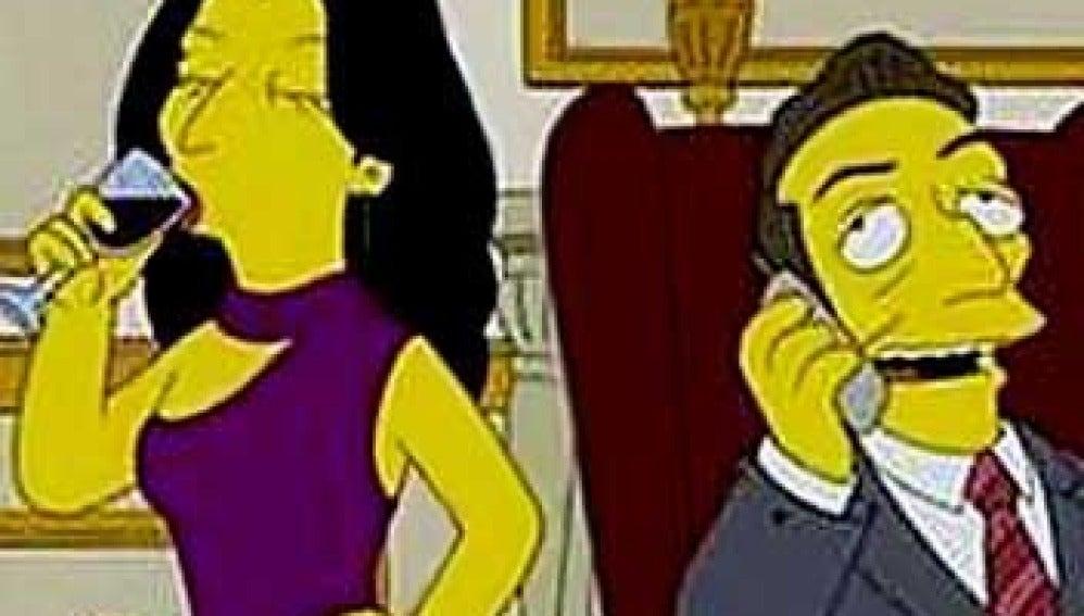 Los Sarkozy, con Bomba, nuevos en Los Simpsons